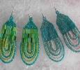 Zelené a tyrkysové náušnice 34